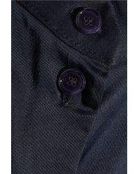 Acne Studios Blue Woven Sateen Playsuit