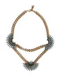 Lulu Frost | Metallic Gold-tone Beacon Necklace | Lyst