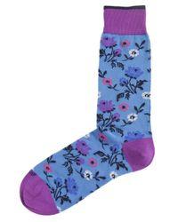 Duchamp | Blue Floral Jardin Vivant Socks for Men | Lyst