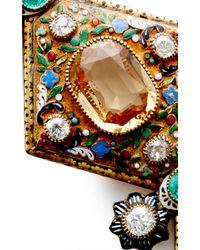 Simon Teakle - Multicolor Antique Viennese Gold And Gemstone Bracelet - Lyst