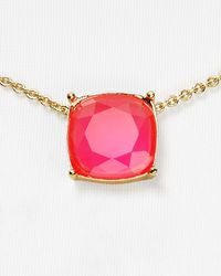 kate spade new york | Pink Cause A Stir Mini Pendant Necklace, 14"