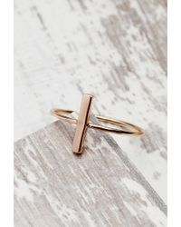 Forever 21 | Pink Shashi Bar Ring | Lyst