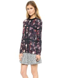 Thakoon Addition Multicolor Flower Printed Blouse