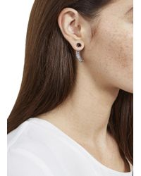 Katie Rowland | Pink Rose Gold And Black Rhodium Talon Stud Earrings | Lyst