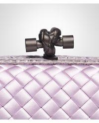Bottega Veneta Purple Parme Intreccio Impero Ayers Knot