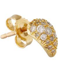 Eva Fehren - Metallic Gold Pavé Claw Earrings - Lyst