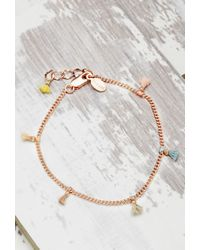 Forever 21 | Pink Shashi Lilu Chain Bracelet | Lyst