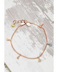 Forever 21 - Pink Shashi Lilu Chain Bracelet - Lyst
