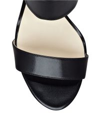 Nine West | Black Intwyne Leather Sandal Heels | Lyst