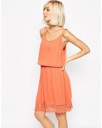SELECTED | Orange Fida Dress With Crochet Trim | Lyst