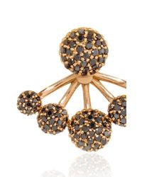 Sara Weinstock - Pink Rose Gold Black Diamond Paba Ear Jackets - Lyst