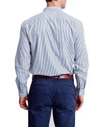 Thomas Pink Blue Keane Stripe Classic Fit Shirt for men
