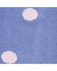 Paul Smith | Women's Sky Blue Polka Stripe Socks | Lyst
