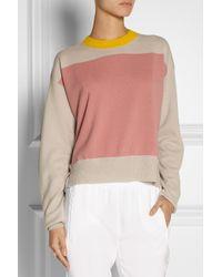 Jil Sander Pink Color-Block Cashmere Sweater