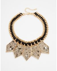 ALDO | Metallic Ldo Pipes Statement Necklace | Lyst