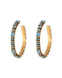 Oscar de la Renta - Blue Long Silk Tassel C Earrings - Lyst