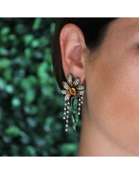 Wendy Yue - Yellow Diamond Daisy Fringe Earrings - Lyst