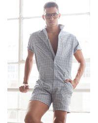 Mr Turk - Blue Keller 2 Short Jumpsuit for Men - Lyst