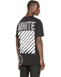 Off-White c/o Virgil Abloh Black Stamp Print T_shirt for men