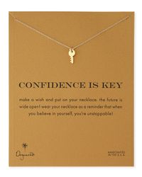 Dogeared | Metallic Gold-dipped Confidence Is Key Necklace | Lyst