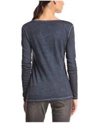 BOSS Orange | Blue Long-sleeved Cotton Shirt 'voksana' | Lyst
