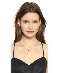 Jennifer Zeuner - Metallic Double Layer Necklace - Lyst