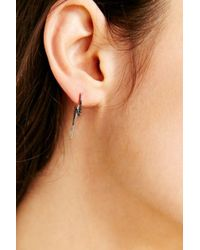 Adina Reyter - Metallic Lightning Bolt Ear Climber Earring - Lyst