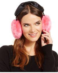 kate spade new york | Pink Faux Fur Earmuffs | Lyst