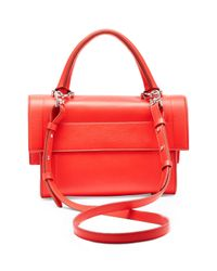 Givenchy - Red Shark Small Leather Satchel  - Lyst