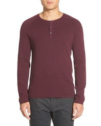 Vince Camuto | Purple Henley Sweater for Men | Lyst