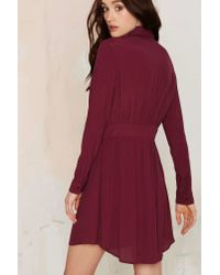 Nasty Gal | Purple Keyhole In One Button Up Dress | Lyst