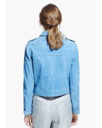 Mango Blue Suede Jacket