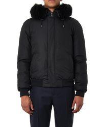 Yves Salomon Black Padded Fur-Lined Short Parka for men