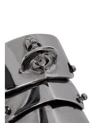 Vivienne Westwood Metallic Armour Gunmetal Articulated Ring for men