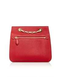 Mark Cross Red Francis Chain Flap In Flame Pebble Grain