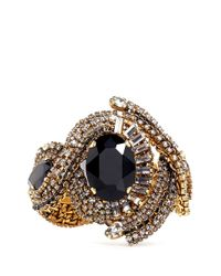 Aerin Black X Erickson Beamon Crystal Embellished Braid Bracelet
