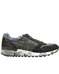 Premiata | Gray Mick Sneakers Suede And Nylon for Men | Lyst