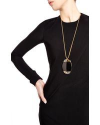 House of Lavande | Black Valentino Lucite and Rhinestone Necklace | Lyst