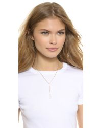 A.V. Max | Metallic Black Double Row Delicate Spike Necklace | Lyst