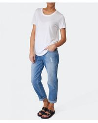 2nd Day - Blue Freja Washed Denim Jeans - Lyst