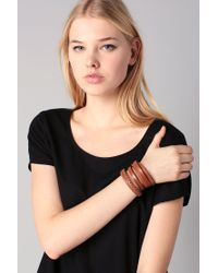 Pieces | Brown Bracelet | Lyst