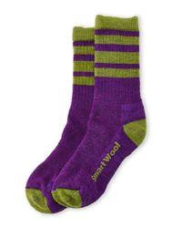 Smartwool | Green Striped Crew Socks | Lyst