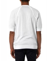 Paul Smith White Dart-Neckline Crew-Neck T-Shirt for men