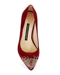 French Connection | Red Elka Stud Accented Heels | Lyst