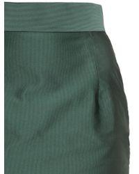 Vivienne Westwood Green Techno Twill Pencil Skirt