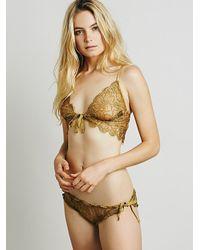 Free People | Metallic Skivvies By For Love & Lemons Womens Honeysuckle Bralette | Lyst