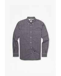 French Connection - Black Bacon Lifeline Checked Shirt for Men - Lyst