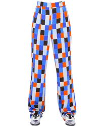 Emilio Pucci | Multicolor Square Printed Viscose Crepe Pants | Lyst