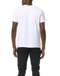 Stussy | White Textured Laurel Wreath Tee for Men | Lyst