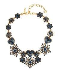 Oscar de la Renta | Metallic Swarovski Crystal-pavé Necklace | Lyst